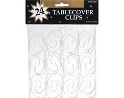 Tablecover Clip plastica 24/Pkg-Clear