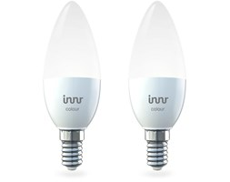 Innr E14 Color Lampadina LED RGBW, Dimmerabile, Compatible with Philips Hue* and Echo Plus (Hub Richiesto) RB 250C (2-Pack) Lampadina singola