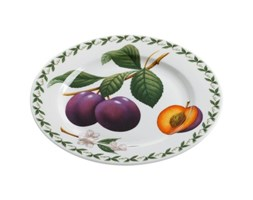 Maxwell & Williams PB8204 Orchard Fruits - Piatto con Decorazione a Fragole, in Confezione Regalo, ø 20 cm Grigio