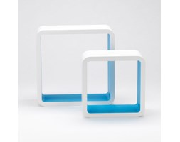 Set 2 pz mensole design moderno colore blu