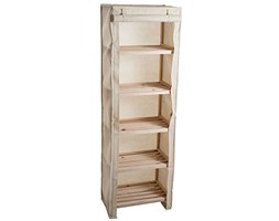 Lavish Home Five Tier Wood Storage Shelving Rack with Removable Cover Beige