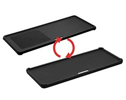 Enders Switch Grid Reversible Cast Iron Griddle for Gas Barbecue, Chicago 3 R Turbo, Black
