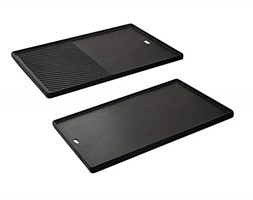 Enders Switch Grid Reversible Cast Iron Griddle for Gas Barbecue Chicago 4 K, Black
