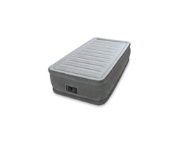 Intex 64412 Airbed Comfort Plush Elevated Singolo, 99x191x46 cm Grigio