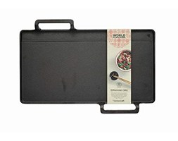 KitchenCraft World of Flavours - Piastra grill teppanyaki giapponese, Ghisa, Nero, 42.5 x 29 x 4.5 cm