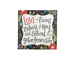 Glory Haus Love Goes on Forever tela, multicolore, 20x 50,8cm
