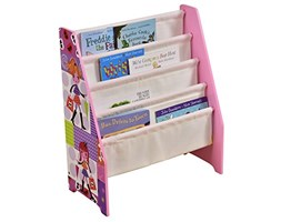 Liberty House Toys Fashion Girl Book Display Tela Tasche, in Legno, Colore: Rosa/Viola Legno Liberty