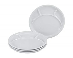 Creatable, 22922, Serie and Grill UNIVERSAL, Dishes set, Fondue Plate 4 pieces, Porcelain Grigio