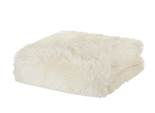 Catherine Lansfield Cuddly Shaggy Plaid, Poliestere, Beige, a una Piazza Beige Poliestere