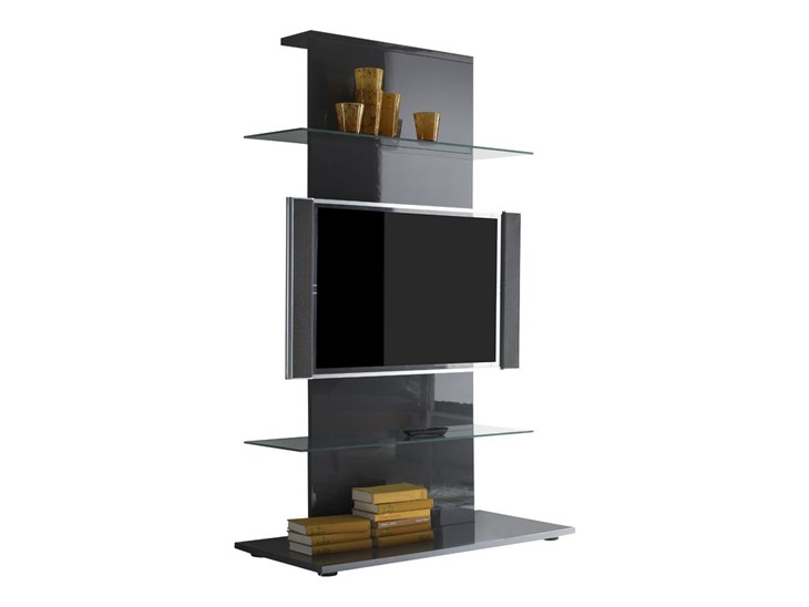 Colonna porta TV Primo in grigio lucido - ✅ Homelook