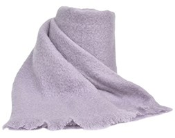 Toison d'Or Ania - Coperta in Mohair, Lana, Poliammide, 220 x 240 cm, Colore: Viola