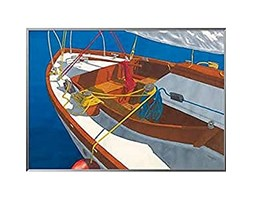 International Graphics - Stampa artistica incorniciata - Greg, Snead - ''Ready for Sailing''- 71 x 51 cm - Colore della cornice: Mercurio perlato - Serie ATHOS Grigio