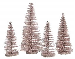 Decoris DEO4063198 Albero Decorativo, Plastica, Rosa, 31 X 21