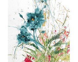 International Graphics - Immagine finita - Jan, Griggs - ''Flora Blue Crop on White''- 30 x 30 cm - Stampa diretta su acrilico Bianco Stampa artistica
