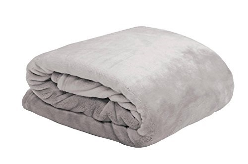 Lovely Casa P25792002 Doudou - Plaid in Poliestere e Lino, 130 x 160 cm Grigio