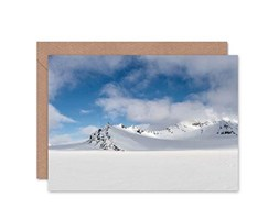 Wee Blue Coo Card Greeting Birthday Snowy Mountains Gift
