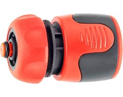 Cornat FLOR89720Water Stop Connector, Nero/Rosso Rosso