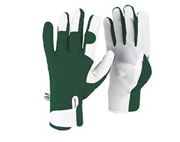 Spear & Jackson Kew Gardens Collection Leather Palm Gloves Guanti, Green
