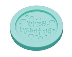 Sweetly Does It Silicone Fondant Mould Round - Happy Birthday Silicone