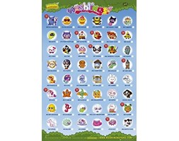 1art1 Moshi Monsters - Moshlings Tick Chart Characters Poster Stampa (91 x 61cm) Stampa artistica