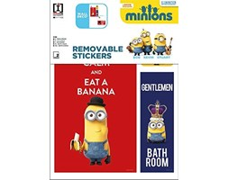 Imagicom WALLMIN60 Minion Adesivo Decorativo da Parete, Modello Room Boy, PVC, Multicolore, 0.1x21.5x30 cm