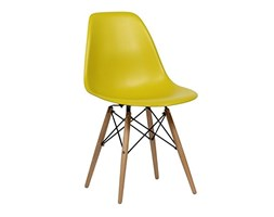 SuperStudio Wooden - Set di 2 sedie di design, Colore Giallo, 81.5 x 47 x 53.5 cm Design