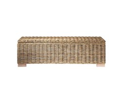 Mobile fondoletto in massello di mogano e rattan L 130 cm Key West