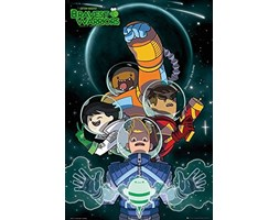 Bravest Warriors - Collage - Animation Kinder Serie TV Poster Plakat Druck - Größe 61x91,5 cm Nero