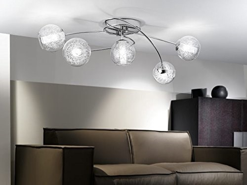 Eglo Plafoniere Led : Eglo ceiling lighting indoor chrome transparent