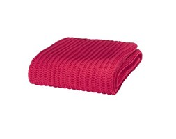 Catherine Lansfield Chunky Knitt Plaid, Materiale Sintetico, Rosso, a una Piazza Rosa