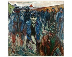 ArtPlaza Munch Edvard Workers On Their Way Home Pannello Decorativo, Legno,, 30x30 cm