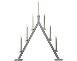 "'Star 193 – 41, LED – Candelieri finestra""Oliver, 7 luci, metallo, grigio, 6.0 x 7.5 x 1.0 cm LED Candelabro"