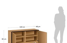 Kave Home - Credenza Nadyria 140 x 82 cm in rovere Beige
