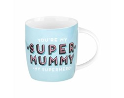 Legami Aphorism Buongiorno Mug You're Super Mummy. My Superhero, Bone China, Multicolore, 9x9x8 cm Bianco