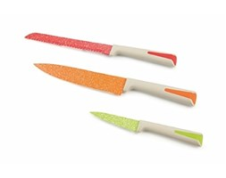 Galileo Casa Marmo Set Coltelli, Acciaio, Multicolore, 3 unità coltello da tavola coltello da pane coltello da chef set di coltelli