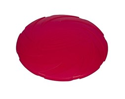 """Nobby Fly Disc """"SPIN"""", in gomma piena, diametro 18 cm, colore: Rosso"""