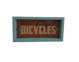 Pide X esa Boca Bicycle Quality Cartello Decorativo con Luce LED, Legno, Arancione, 6 x 30 x 15 cm