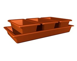 Plastkon Accessori Mini Giardino 40 CM, Colore: Terracotta/Marrone