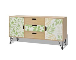 vidaXL Credenza in MDF 110x35x57 cm Marrone Scandinavo Design