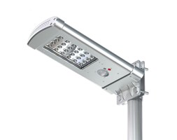 Lampione Led ad Energia Solare SMALL-ALL-IN-ONE con Telecomando LED Grigio