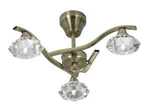 Plafoniera Ottone E Vetro : Oaks lighting quaid plafoniera a bracci con finitura in