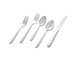 Amazon Basics Stone & Beam 20-Piece Flatware Set, Service for 4 - Round