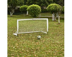 HOMCOM Football Goal Folding Outdoor Backyard with All Weather Net Kids Adults 6'x3' Soccer Goal HOMCOM Porta da Carico Pieghevole con Rete da Cortile Esterno per Tutte le Stagioni Bambini Adulti 6' x 3' Calcio | AOSOM.it Bianco