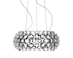 Sospensione Caboche Media LED - / Ø 50 cm di Foscarini - Trasparente - Materiale plastico