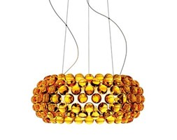 Sospensione Caboche Media LED - / Ø 50 cm di Foscarini - Ambra - Materiale plastico