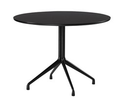 Tavolo About a Table / Ø 100 cm - Hay - Nero - Metallo Metallo