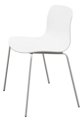 Sedia impilabile About a chair AAC16 / Guscio plastica & gambe in ...