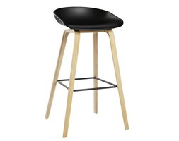 Sgabello bar about a stool aas h cm di hay nero