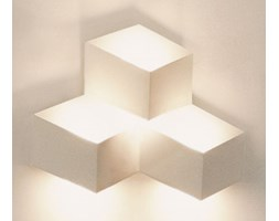 Applique Fold Surface - LED / 3 elementi di Vibia - Bianco - Metallo