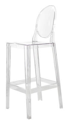 Sedia da bar One more - H 65cm di Kartell - Trasparente - Materiale ...
